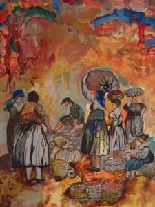Al mercato  Giuseppe  Pino Ritorto Pittore