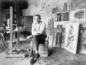 Graham-Sutherland-nel-suo-studio
