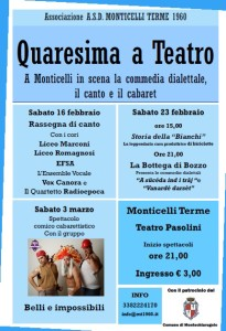 "locandina ""Quaresima a teatro"""