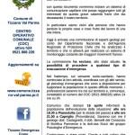 comunicato del sindaco di Tizzano val parma