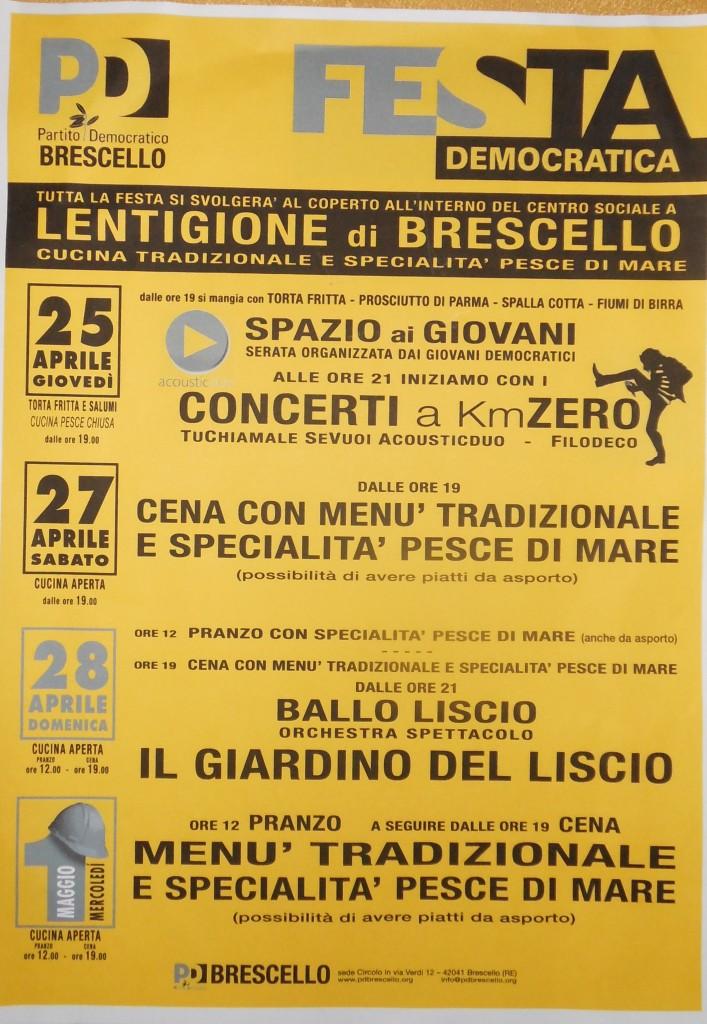 Lentigione festa PD 2013