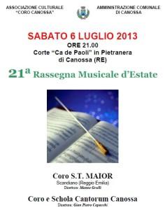 XXI RASSEGNA MUSICALE D'ESTATE- canossa