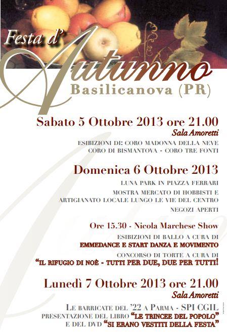Festa d'Autunno-Basilicanova