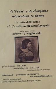 al Castello di Montechiarugolo performance teatrale sabato14 maggio 2016