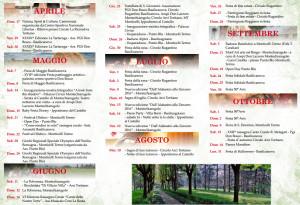 Calendario eventi ed iniziative 2016 Comune di Montechiarugolo