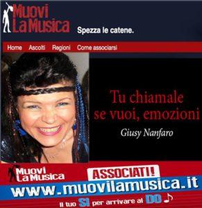 Giusy Nanfaro la musica nasce dal cuore