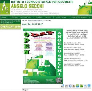 Open Day Istituto Angelo Secchi Reggio Emilia