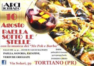 Paella sotto le stelle Tortiano Sagra di San Lorenzo 2017