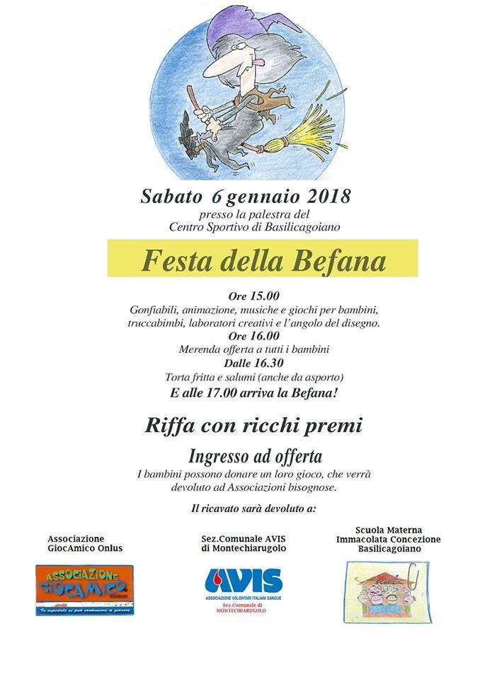 Arriva la befana 2018 Montechiarugolo e dintorni