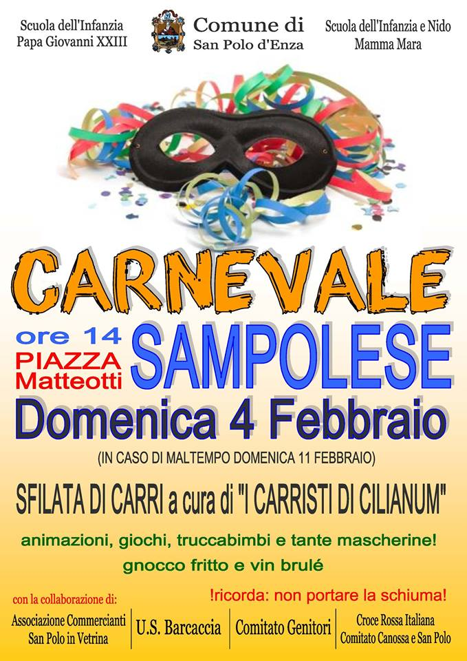 Valle dell'Enza Carnevale 2018 dove andare