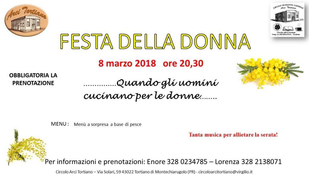 8 Marzo Festa della donna 2018