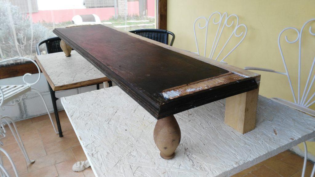 Restauro con recupero legno da altri mobiliRestauro con recupero legno da altri mobili