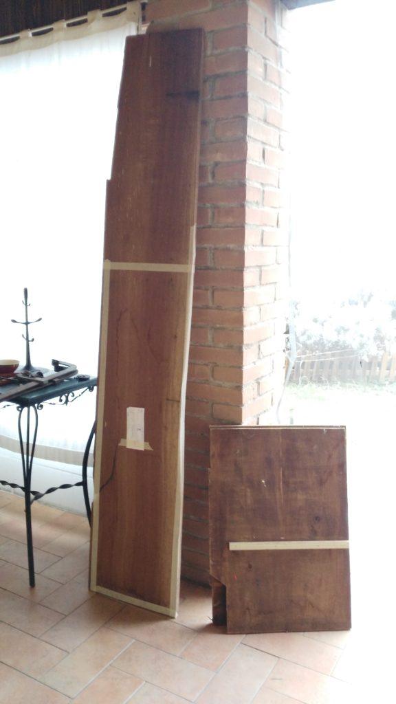 Restauro con recupero legno da altri mobili