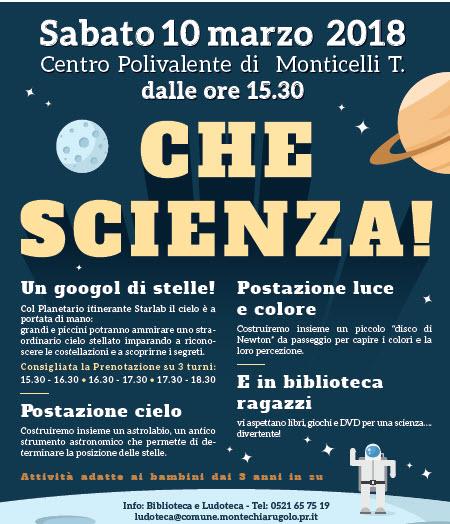Che scienza! Biblioteca di Montechiarugolo 2018