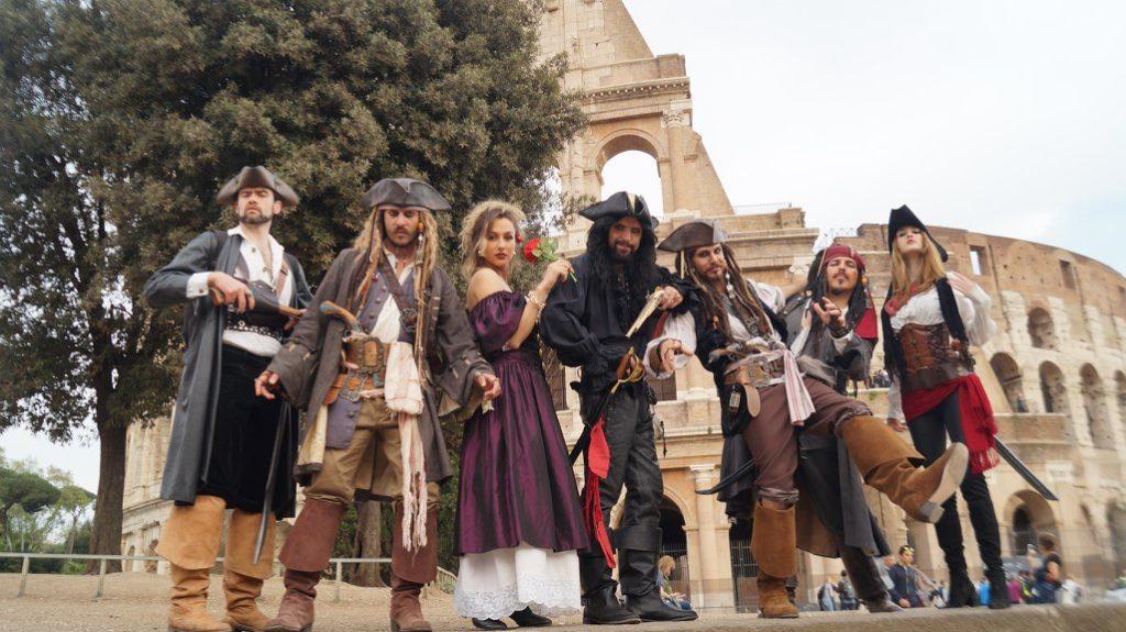 Roma da Pirati passeggiata tra le strade 2018