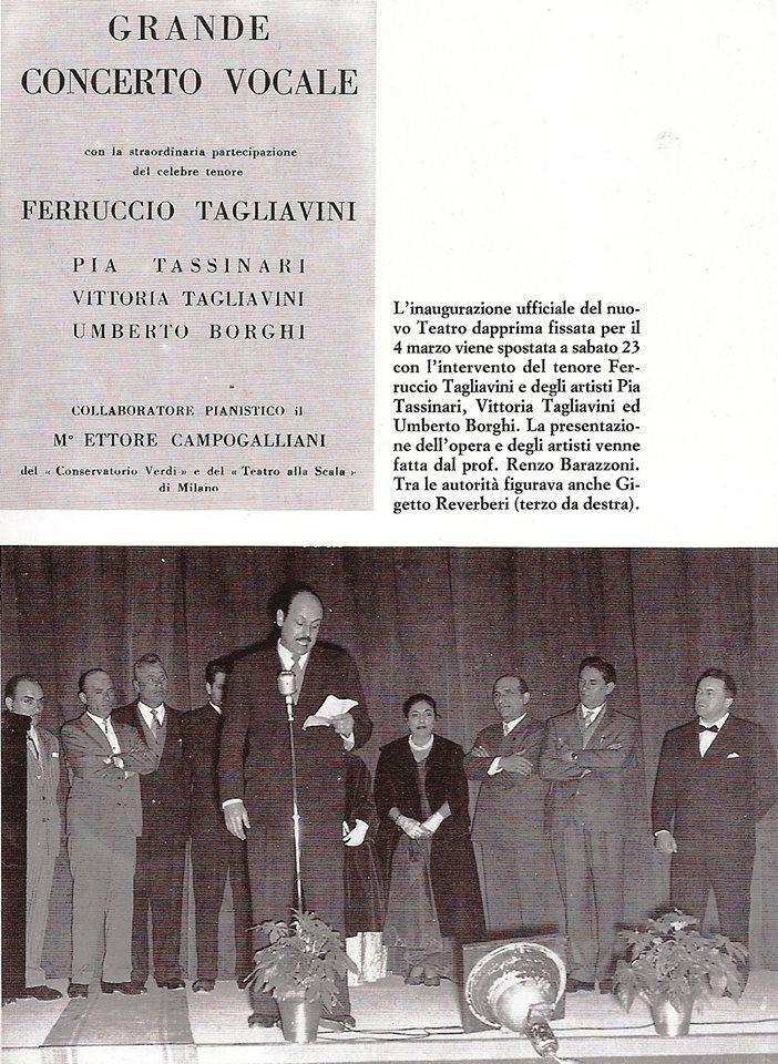 Bibbiano targa dedicata cantante Ferruccio Tagliavini