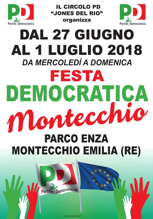 Festa Democratica Montecchio Emilia 2018