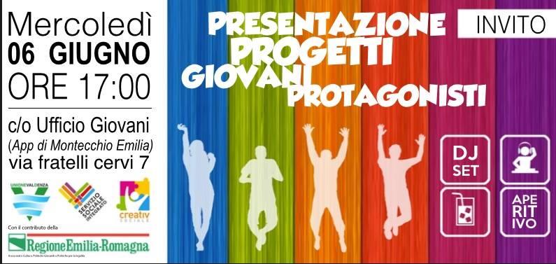 Progetto Giovani Protagonisti Unione Val d'Enza 2018