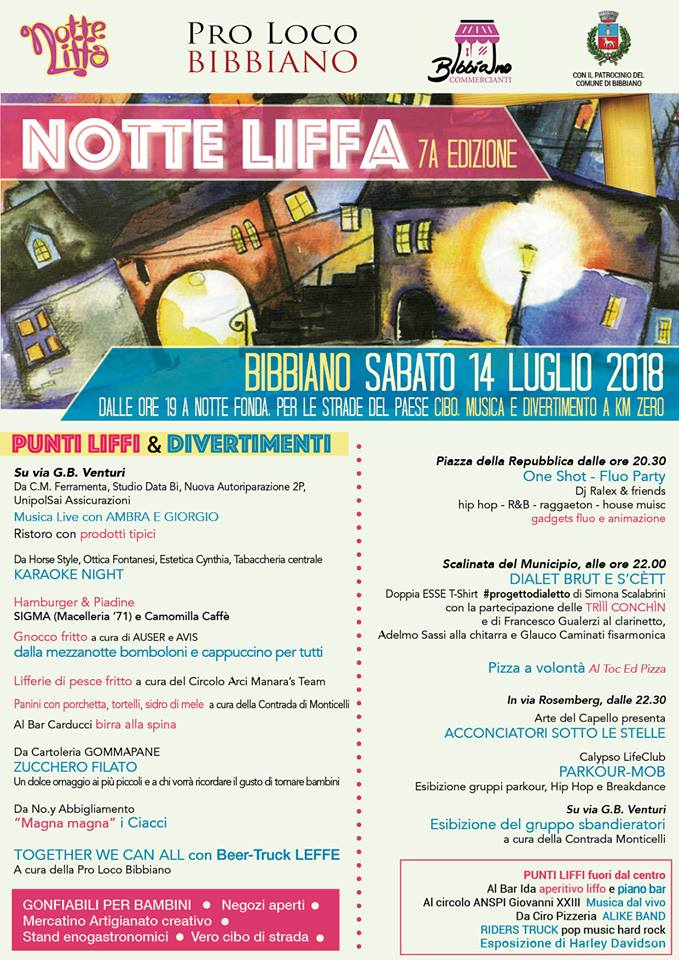 NOTTE LIFFA Bibbiano RE 2018
