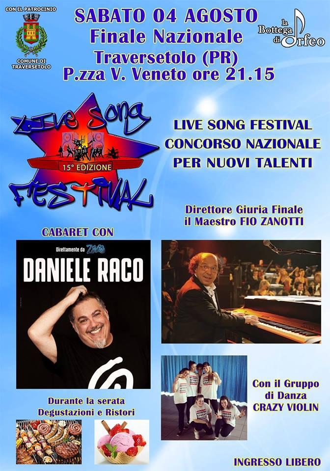"""Live Song Festival Traversetolo 2018"""
