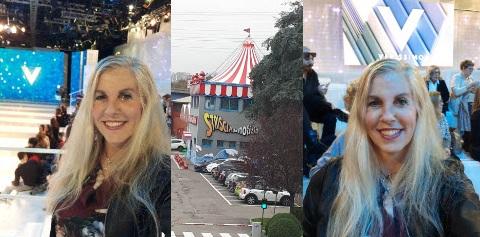 Cinzia Felloni alla festa di Striscia e Verissimo Novembre 2018