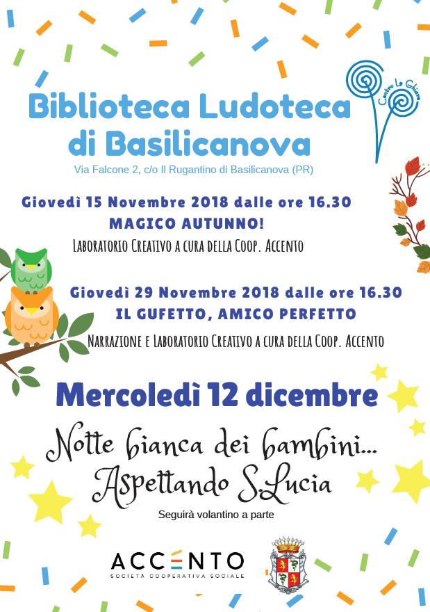 Aspettando Santa Lucia Basilicanova 2018