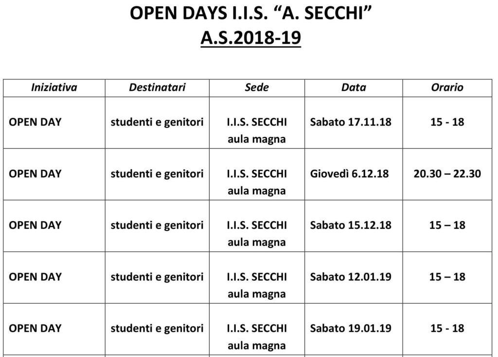 """INDIRIZZO - GREEN ECONOMY Istituto """"A. Secchi RE 2018"""