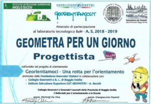 Geometra per un giorno Fondazione geometria Italiani 2018