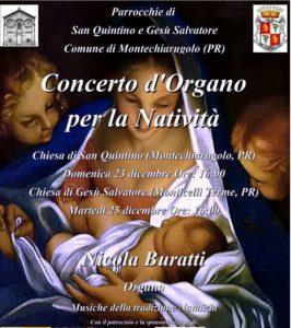 Concerto d'organo per la Natività Montechiarugolo 2018