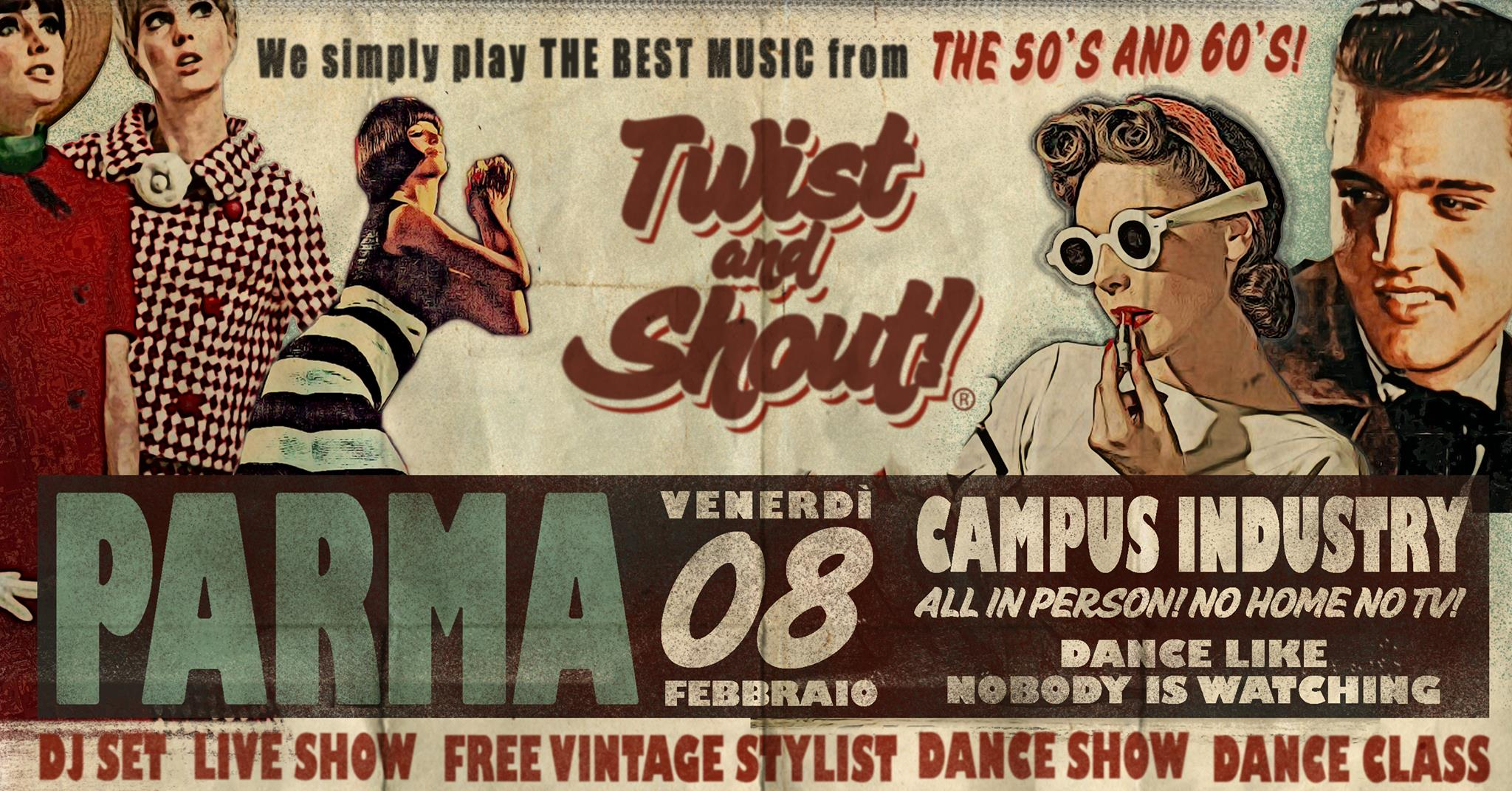 Twist and Shout! A 50's and 60's Night Parma febbraio 2019