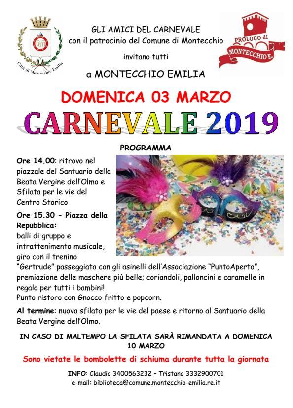 CARNEVALE DEI BAMBINI MONTECCHIO EMILIA 2019