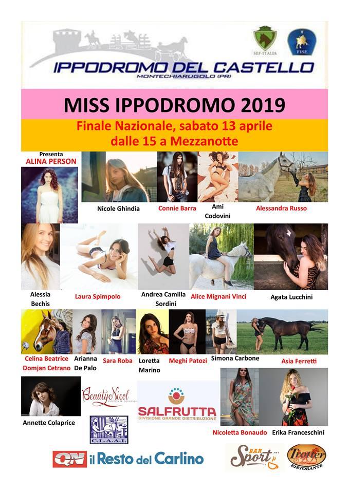 Miss Ippodromo del Castello 2019 finale nazionale