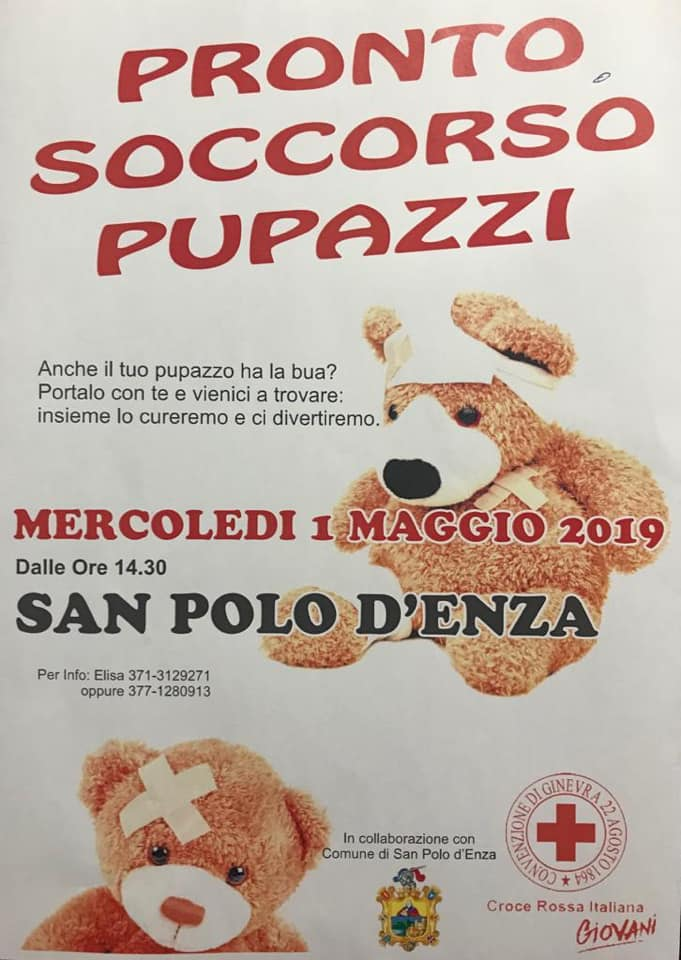 Croce Rossa Canossa San Polo pronto soccorso pupazzi