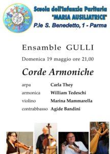 Ensamble Gulli, corde armoniche Parma 2019