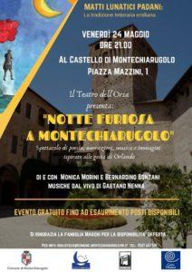 Notte furiosa a Montechiarugolo castello 2019