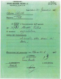 """progetto """"Officine Reggiane: un archivio vivente 2019"""
