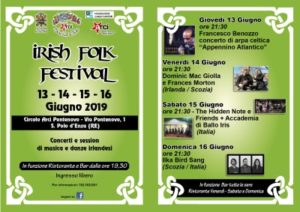 Traditional Irish Concert Arci Pontenovo S. Polo Enza 2019
