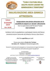Inaugurazione area ginnica attrezzata Tortiano PR 2019