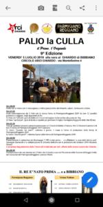Palio la culla 9° edizione circolo Arci Ghiardo 2019