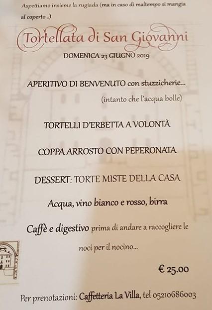 Tortellata di San Giovanni Montechiarugolo 2019 Tradizione locale