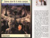 """Una copia al Ministro Giorgia Meloni dell'opera""""Sono dov'è il mio corpo"""""""