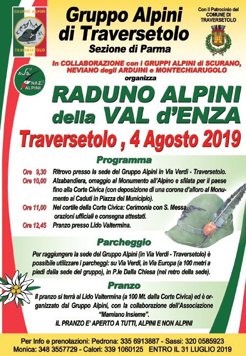 Raduno Alpini della Val d'Enza, Traversetolo 2019