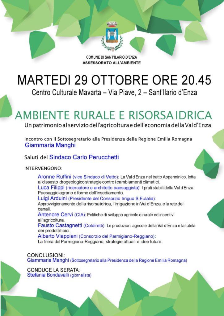Val d'Enza, ambiente rurale e risorsa idrica 2019