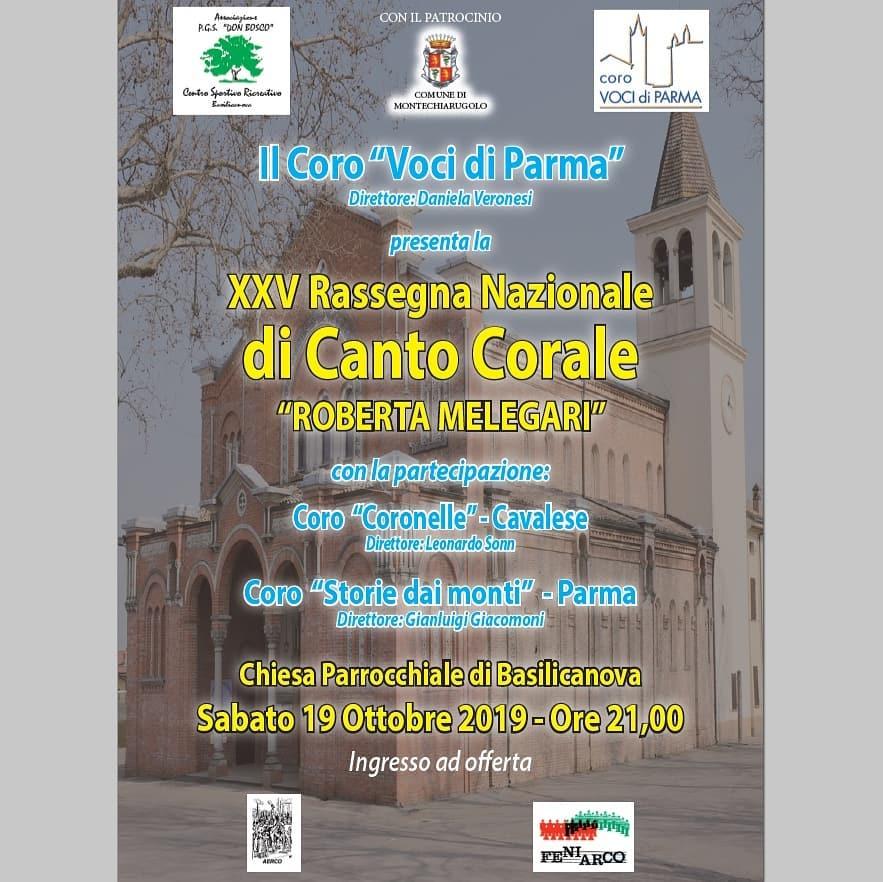 """XXV edizione nazionale Canto Corale""""ROBERTA MELEGARI"""""""