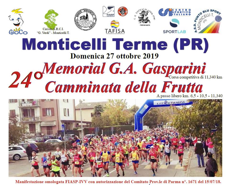 Monticelli Terme (PR) - 24° Memorial Gasparini camminata della frutta
