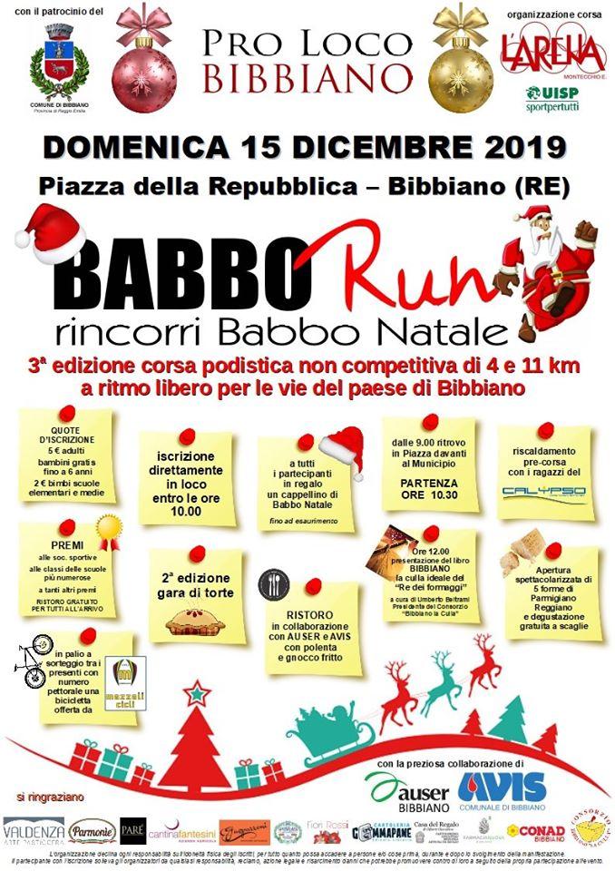 BABBO RUN 2019 ProLoco Bibbiano e Polisportiva L'Arena