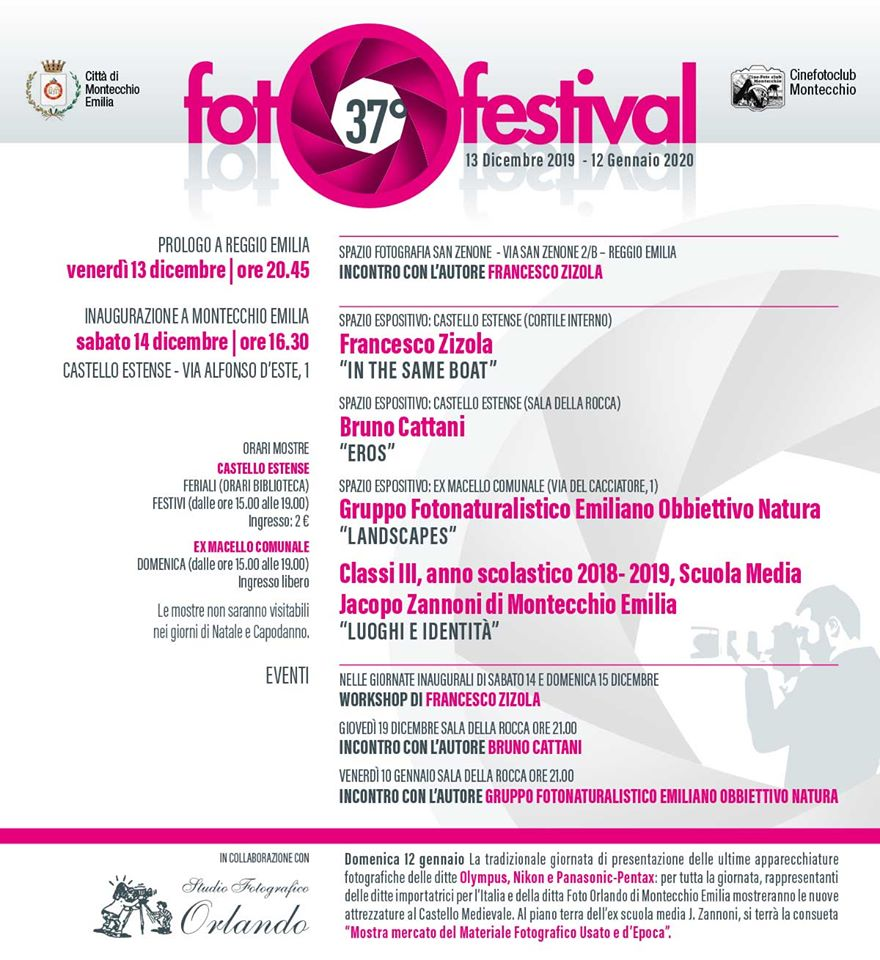 FOTOFESTIVAL: IN ARRIVO LA 37° EDIZIONE Montecchio Emilia 2019