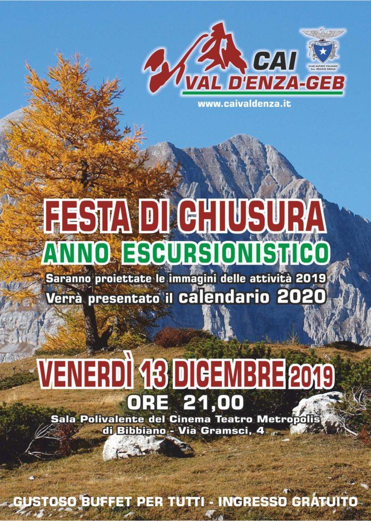 """Cai -""""Val d'Enza"""" - Geb di Bibbiano Festa di fine anno 2019"""