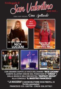San Valentino con Nick Luciani in Masseria da Cinzia eventi