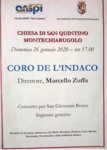 CONCERTO CORALE Montechiarugolo CHIESA SAN QUINTINO 2020